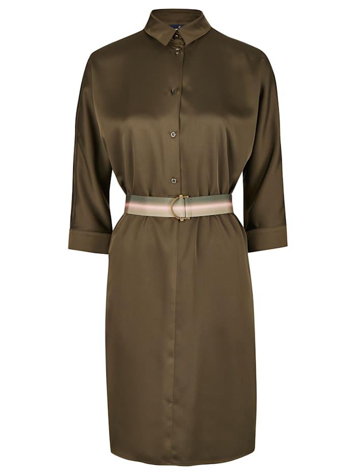 Daniel Hechter Modisches Kleid mit einem kontrastigen Gürtel, olive