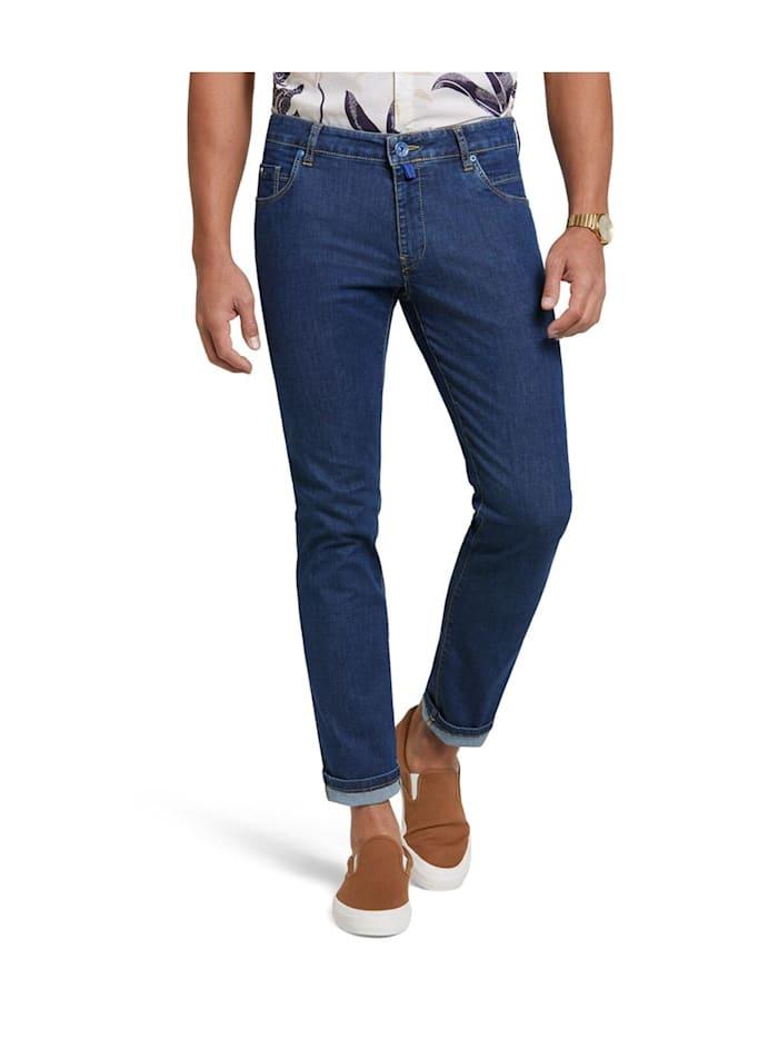 Meyer Hosen M5 Slim Fit Hose, Blau