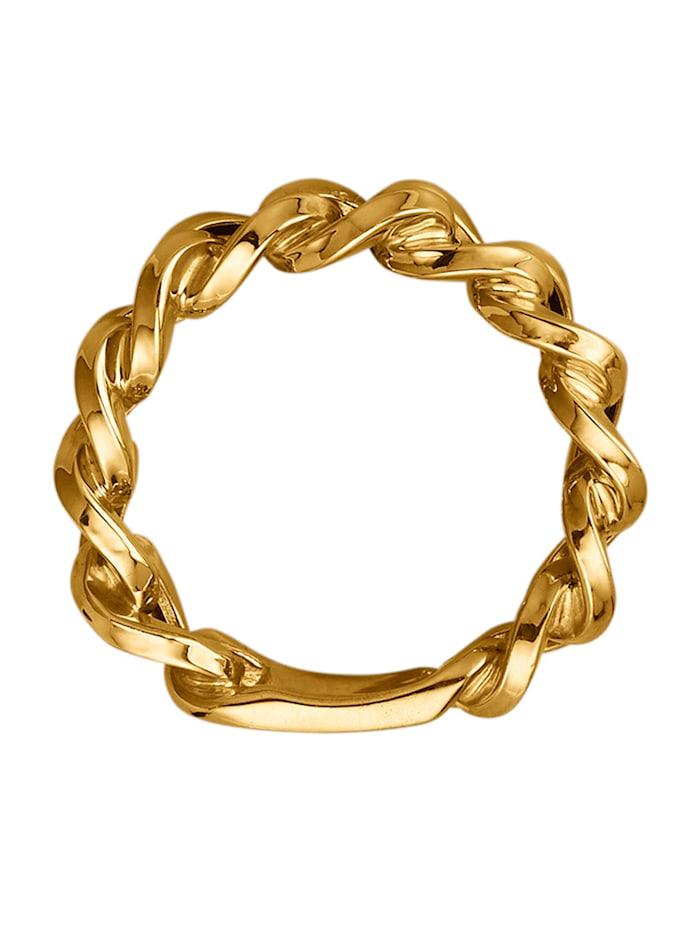"Bague ""chaîne"" en or jaune 375 en or jaune 375"