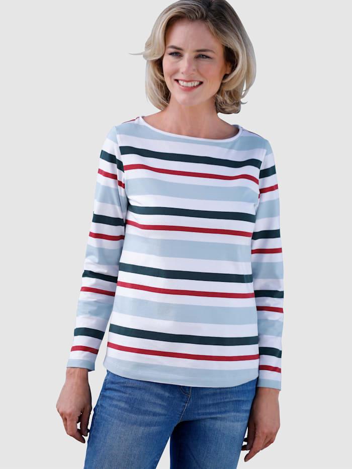 Dress In Raitakuosinen paita, Sininen/Punainen/Laivastonsininen