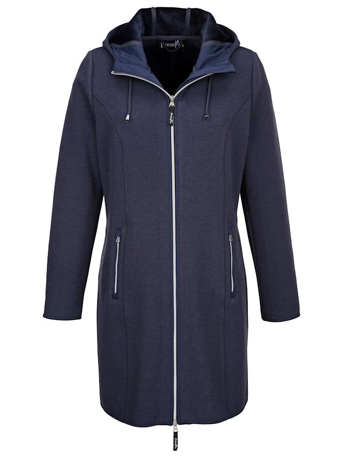 Dress In Jacke in Struktur Optik, Marineblau