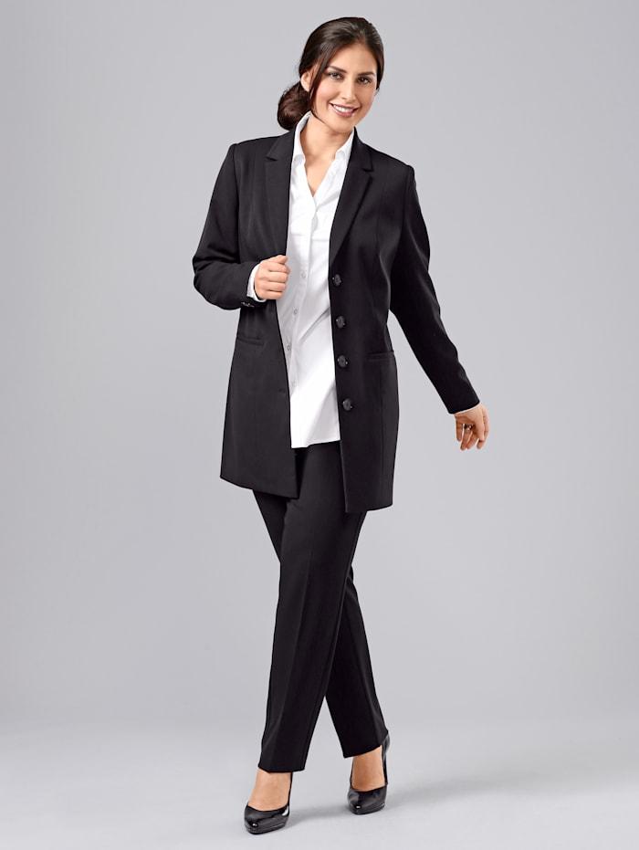 Sara Lindholm Robe manteau, Zwart