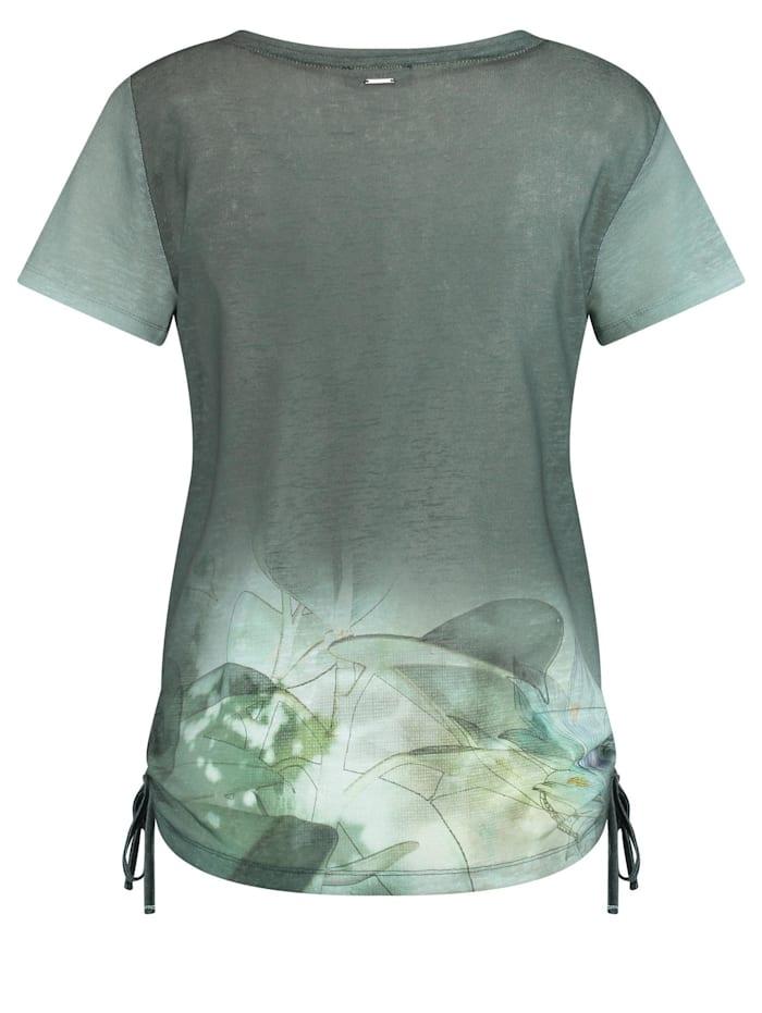 T-Shirt mit seitlichen Raffungen