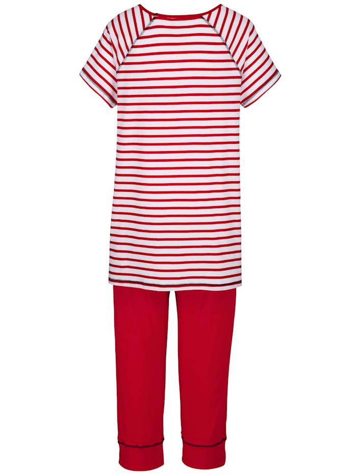 Schlafanzug im modernen Streifen-Dessin