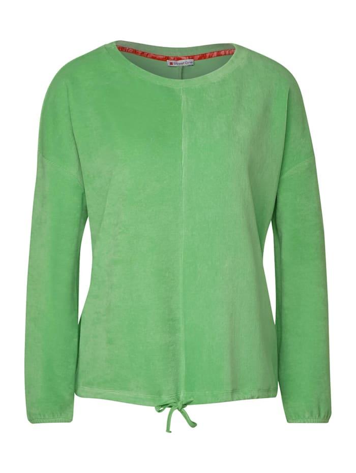 Street One Flauschiges Babycord-Shirt, green mint