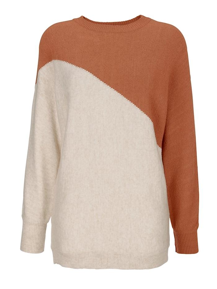 Pullover in kontrastfarbener Optik