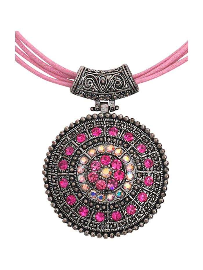 KLiNGEL Collier met glasstenen, Roze