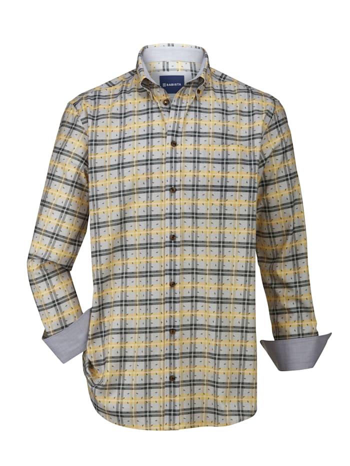BABISTA Overhemd van aangenaam twillmateriaal, Groen/Geel