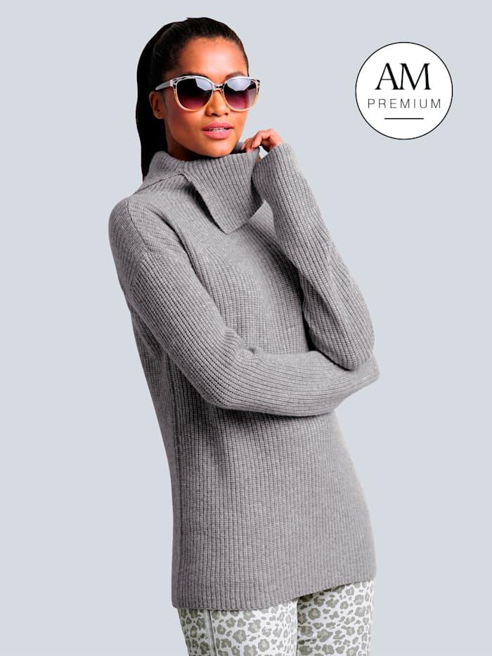 Alba Moda Pullover aus hochwertiger weicher Kaschmirqualität, Grau