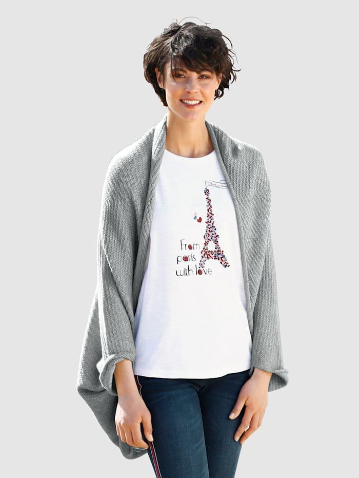 Dress In Strickjacke in offener Form, Grey
