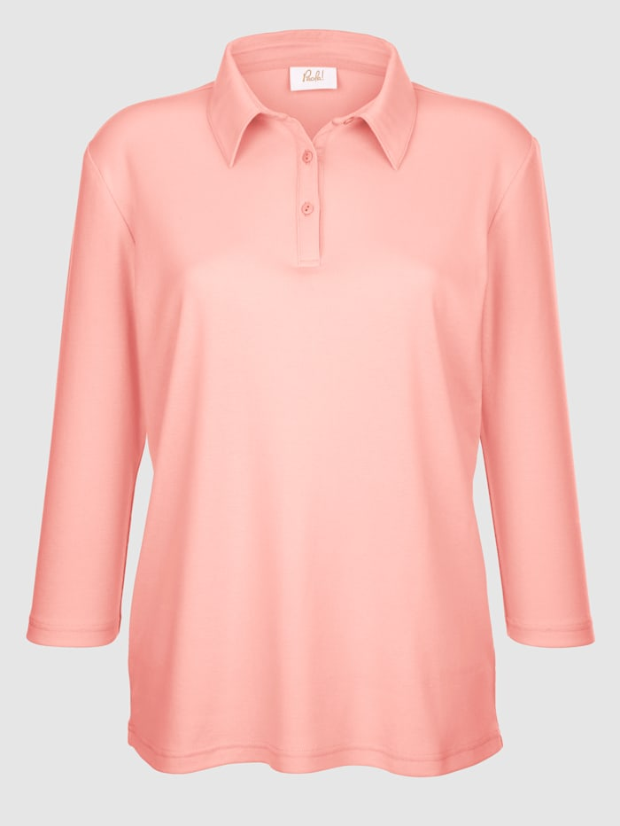 Paola Pehmeä kauluksellinen paita, Persikka