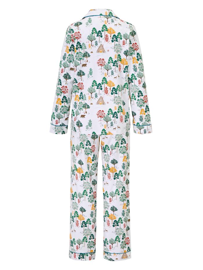 Pyjama mit Wald-Print