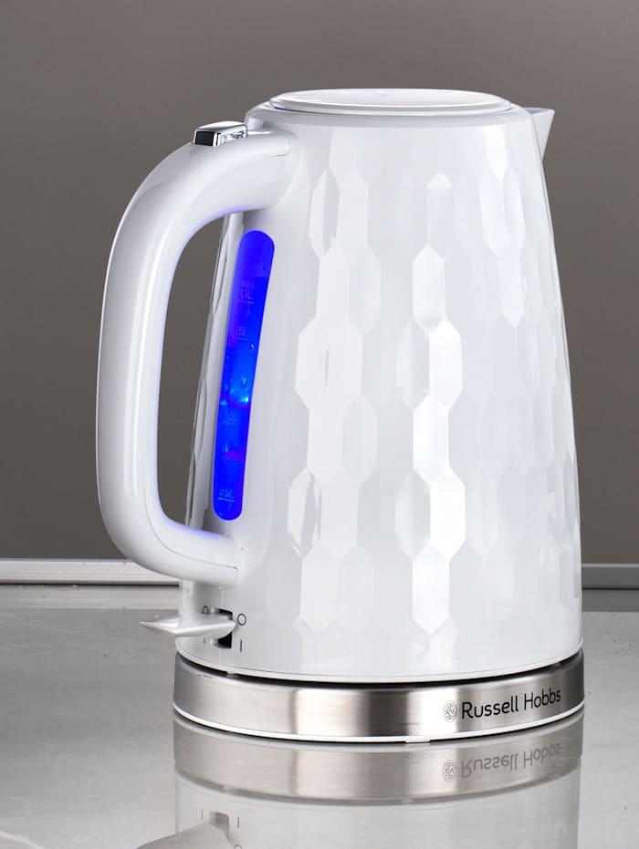 Russell Hobbs Vattenkokare, 1,7 liter – Honeycomb, Vit