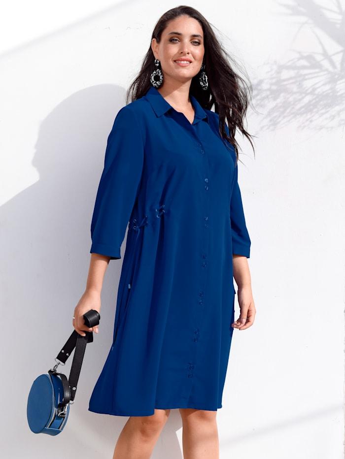 MIAMODA Kleid mit Bändern an den Seiten, Royalblau