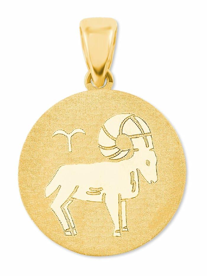 amor Anhänger Unisex, Gold 375, Widder, Gold