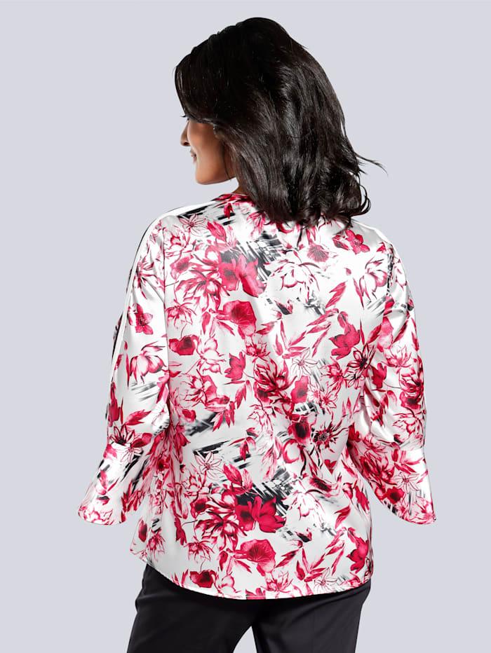 Blouse met trendy bloemenprint