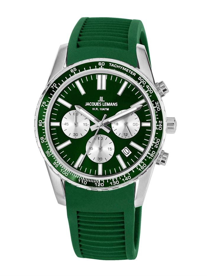 Jacques Lemans Unisex-Uhr Chronograph Serie: Liverpool, Kollektion: Sport Hinweis 1-2059D, Grün