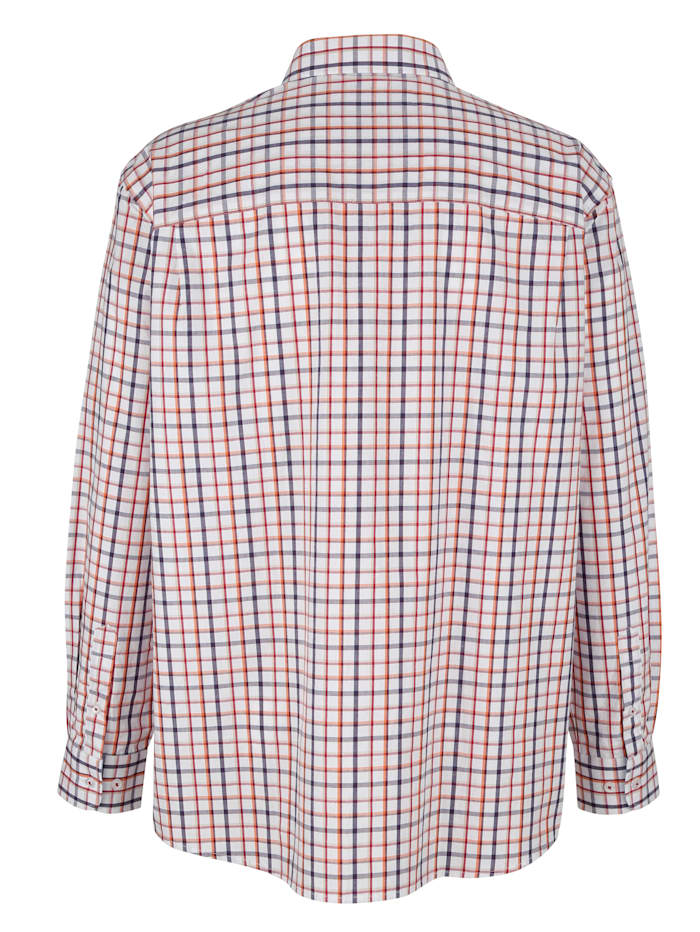 Košeľa s károvaným vzorom