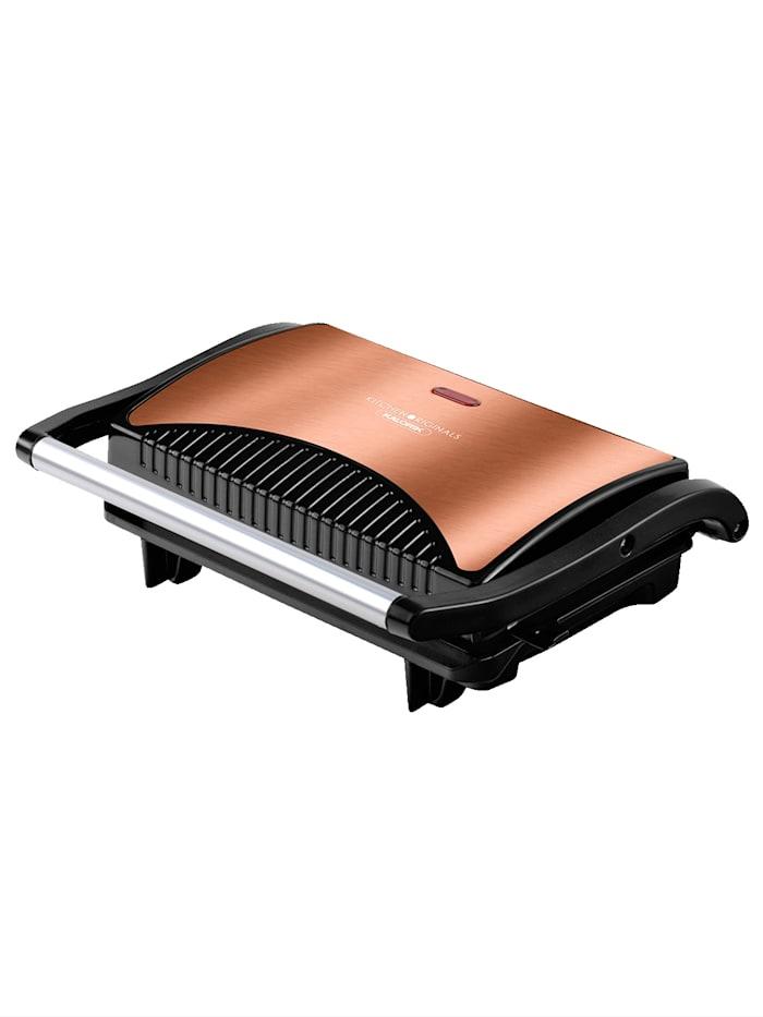 Kalorik Kontaktgrill & Panininmaker 'TKG SWM 1050 CO / TKG SWP 1050 R', Kupferfarben