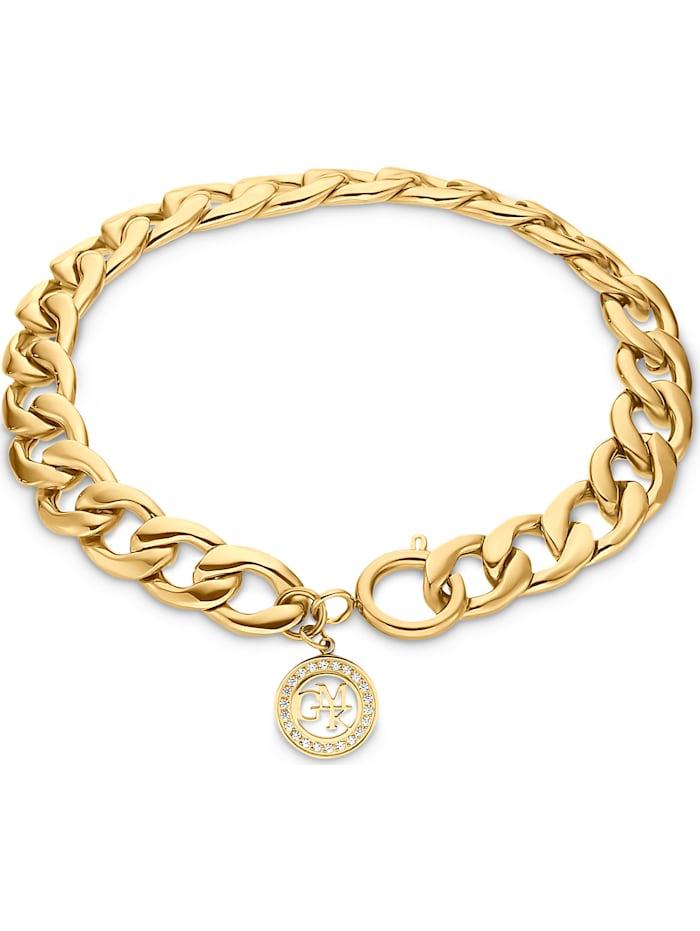 Guido Maria Kretschmer GMK Damen-Armband Edelstahl 22 Zirkonia, gelbgold