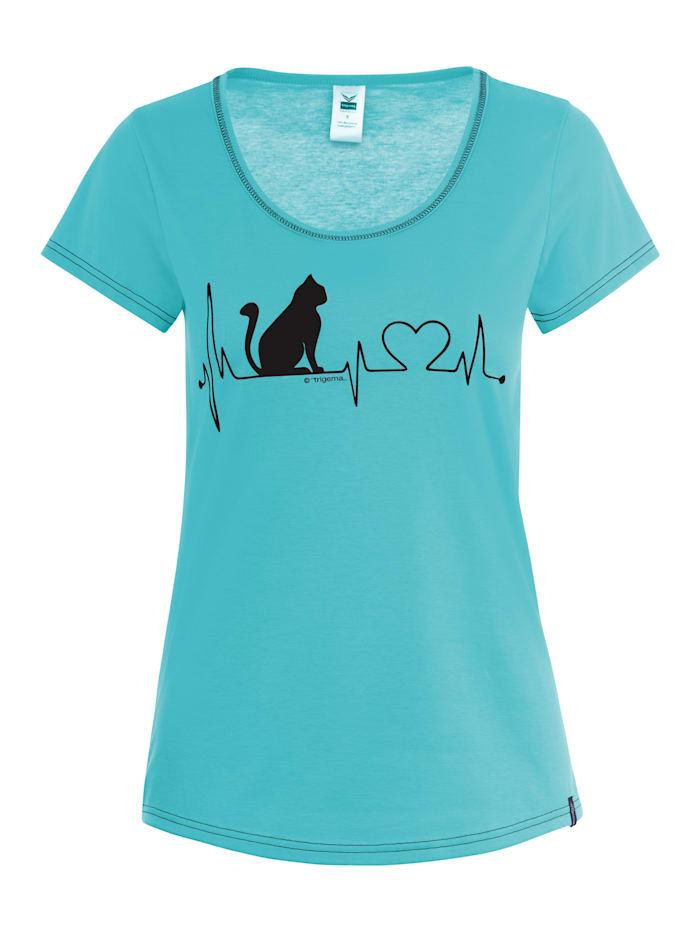 Damen T-Shirt mit weitem Halsausschnitt