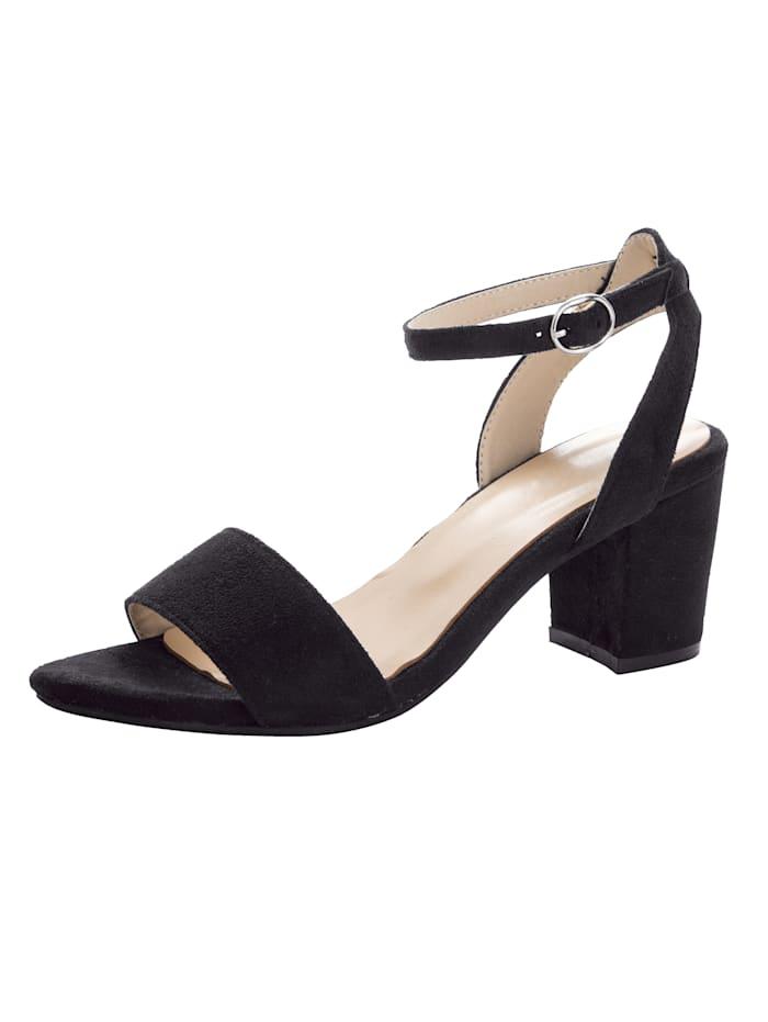 Sandaletter med vristrem och stabil klack