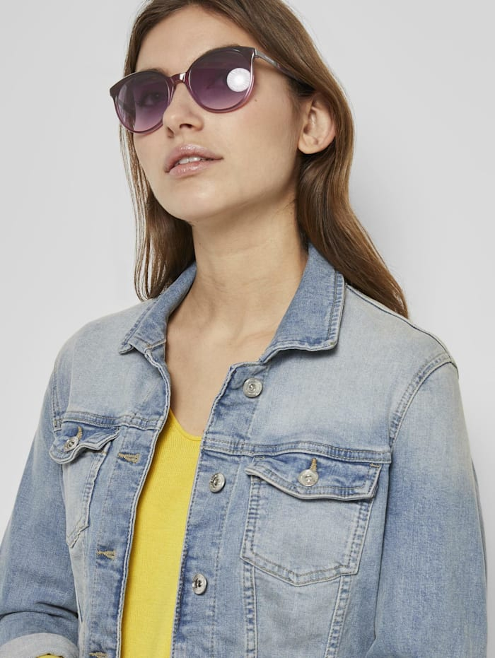 Tom Tailor Abgerundete Sonnenbrille, berry-pink