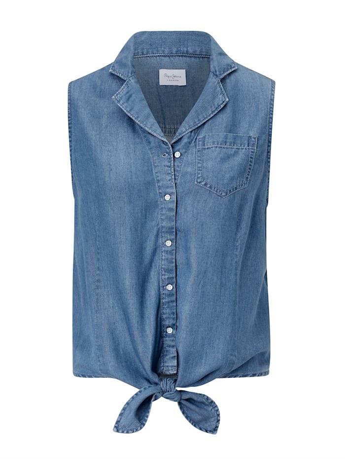 Pepe Jeans Jeansblusentop, Jeansblau