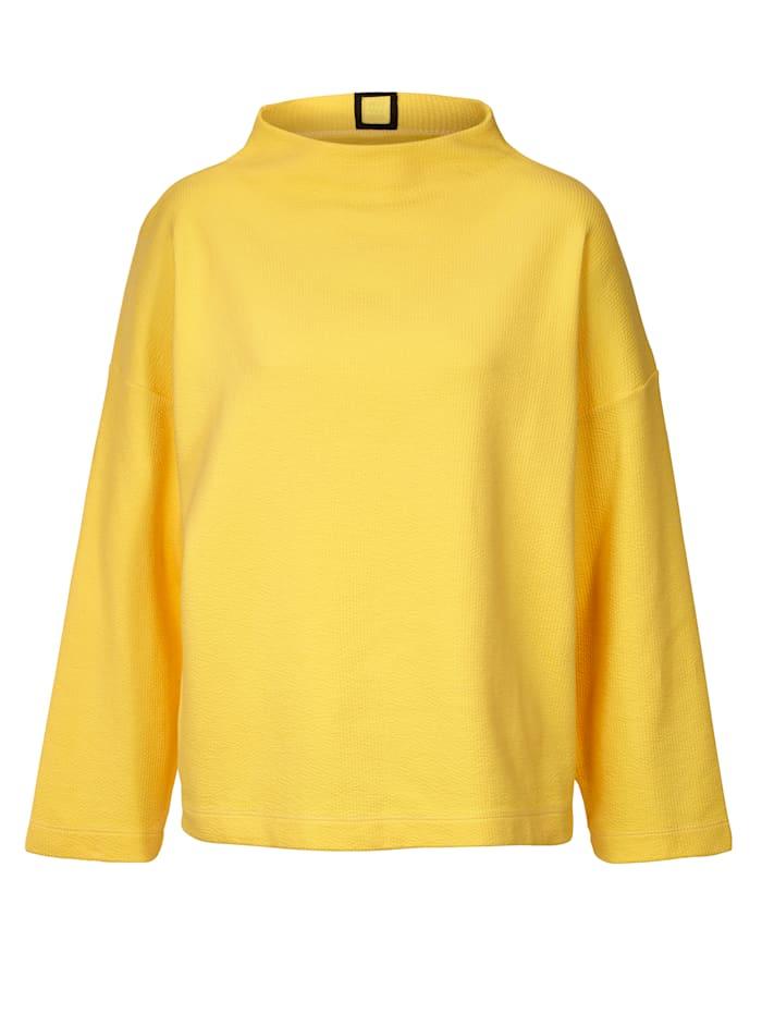 REKEN MAAR Sweatshirt mit Stehkragen und Struktur, Gelb