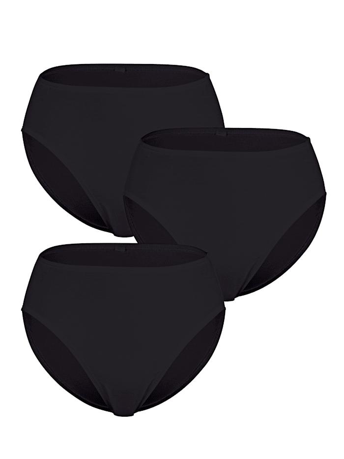 Blue Moon Jazzpant aus weicher Micromodal-Qualität 3er Pack, 3x schwarz