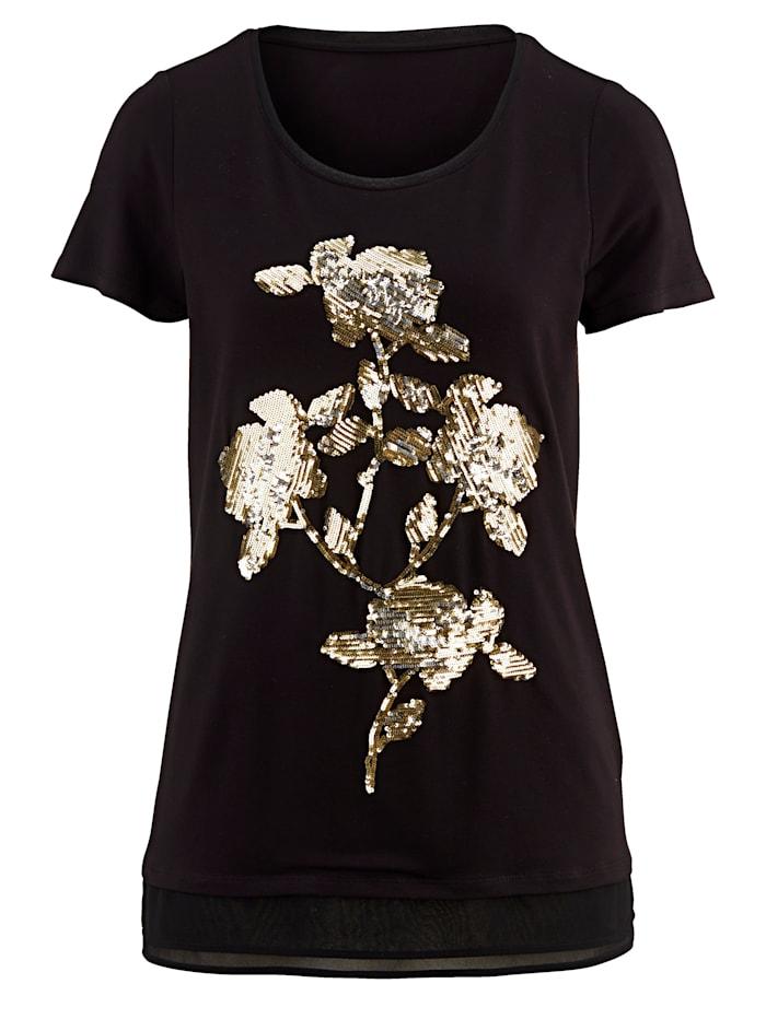 Shirt met paillettenmotief