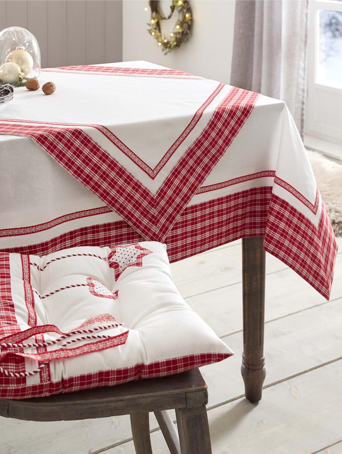 Webschatz Linge de table 'Bernadette', Rouge/blanc