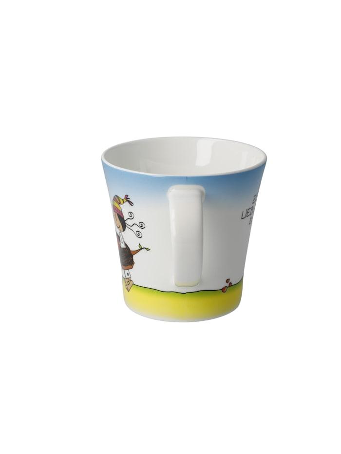 """Goebel Coffee-/Tea Mug Der kleine Yogi - """"Glück ist Zeit"""""""