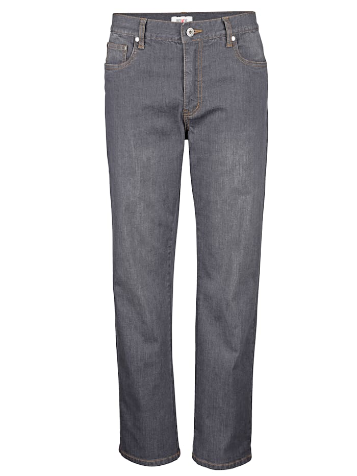 Roger Kent 5-Pocket Jeans mit Stretch, Silbergrau