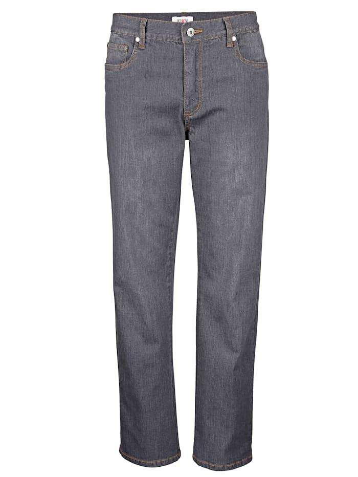 Roger Kent 5-vreckové džínsy so strečom, Striebrošedá