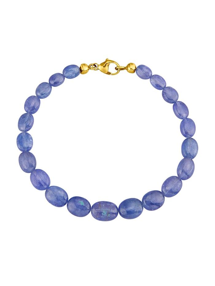 Bracelet de tanzanites avec tanzanites, Bleu