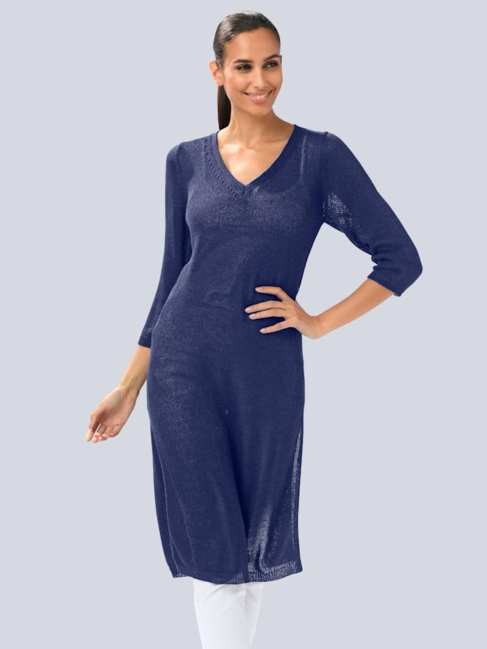Alba Moda Longpullover in modischer Longform, Marineblau