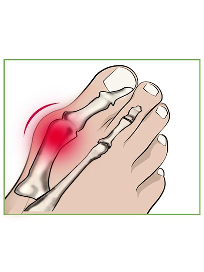 Protection contre l'hallux valgus et écarteur d'orteils
