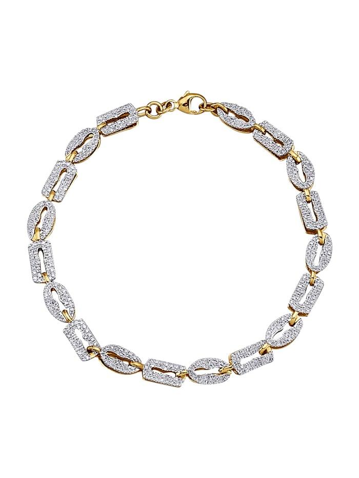 AMY VERMONT Armband mit Diamanten, Gelbgoldfarben