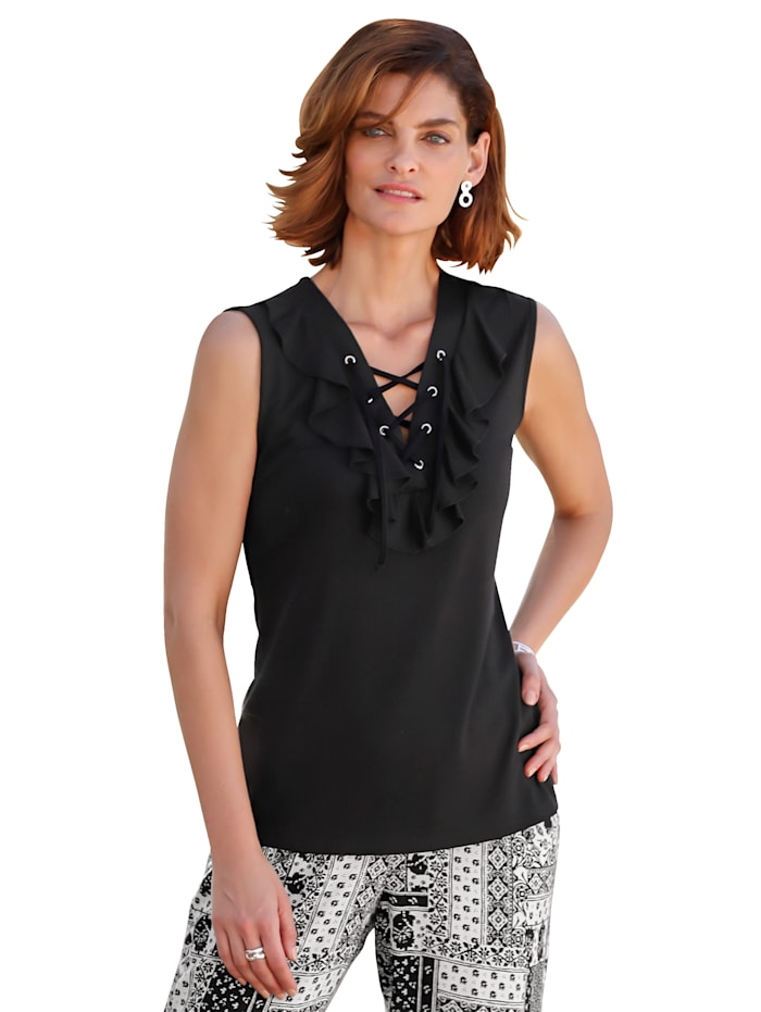 Top with lace-up detail