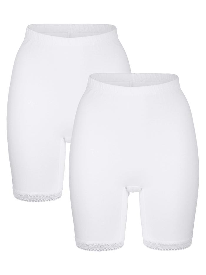 "Blue Moon Panties longs en coton issu de l'initiative ""Cotton made in Africa"", Blanc"