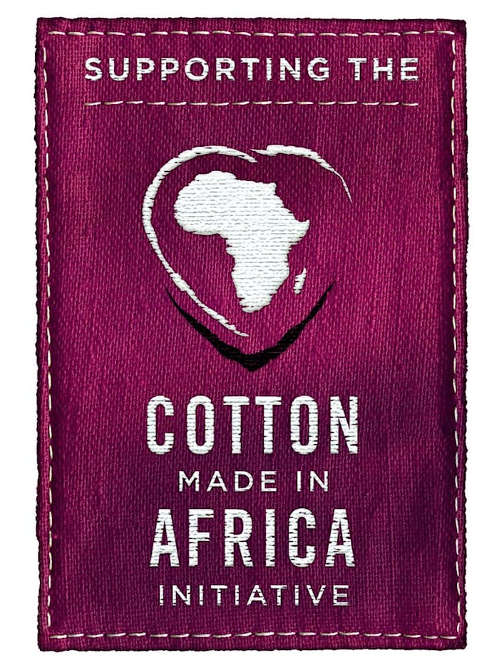 "Peignoir en coton issu de l'initiative ""Cotton made in Africa"""
