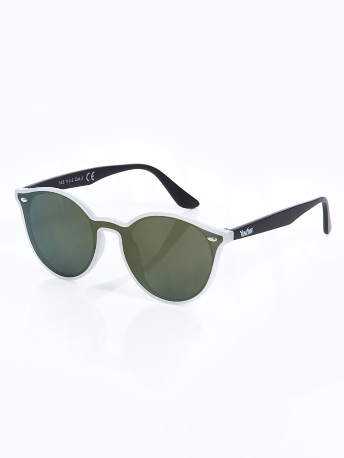 Alba Moda Sonnenbrille in moderner Form, Transparent