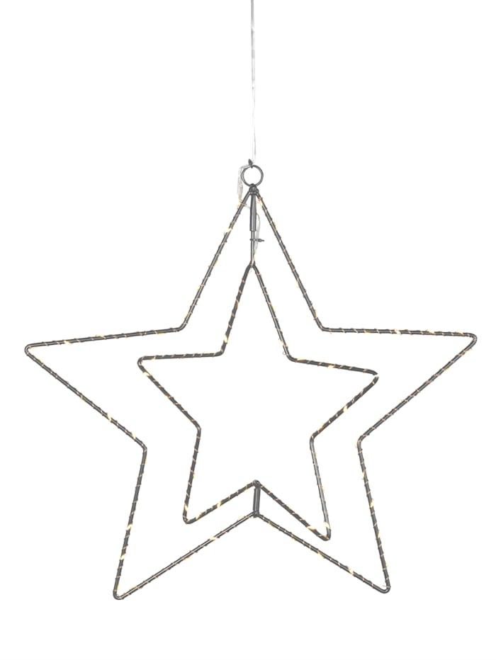 Näve LED-julstjärna, svart