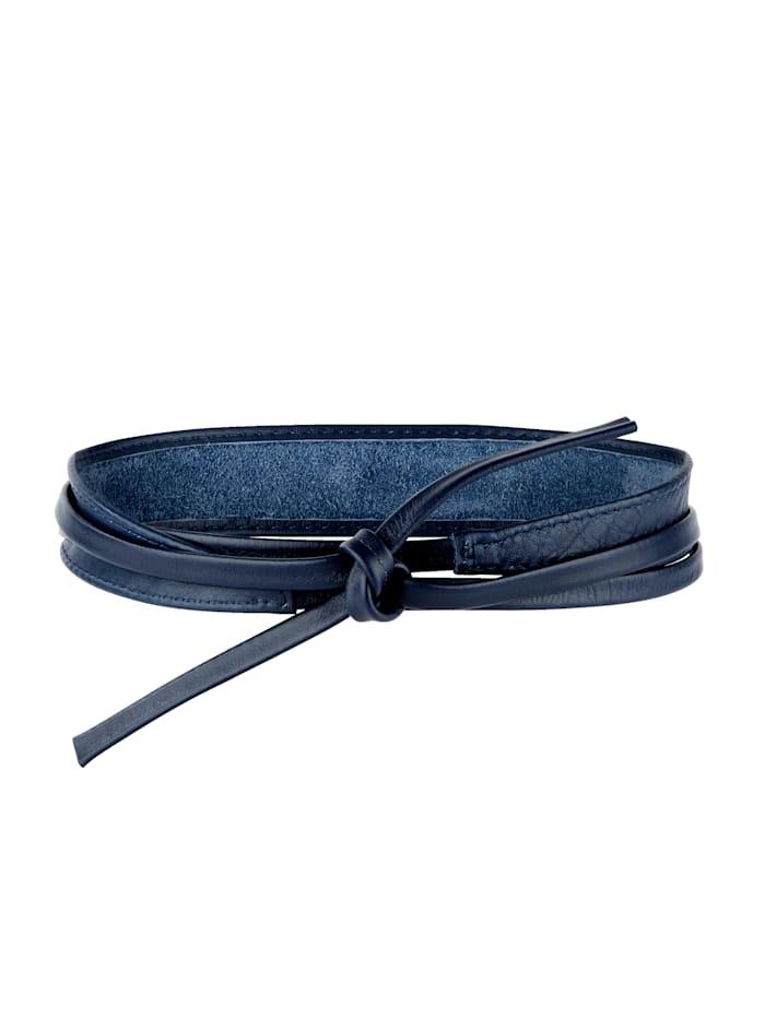 Laura Kent Knytskärp av skinn, marinblå
