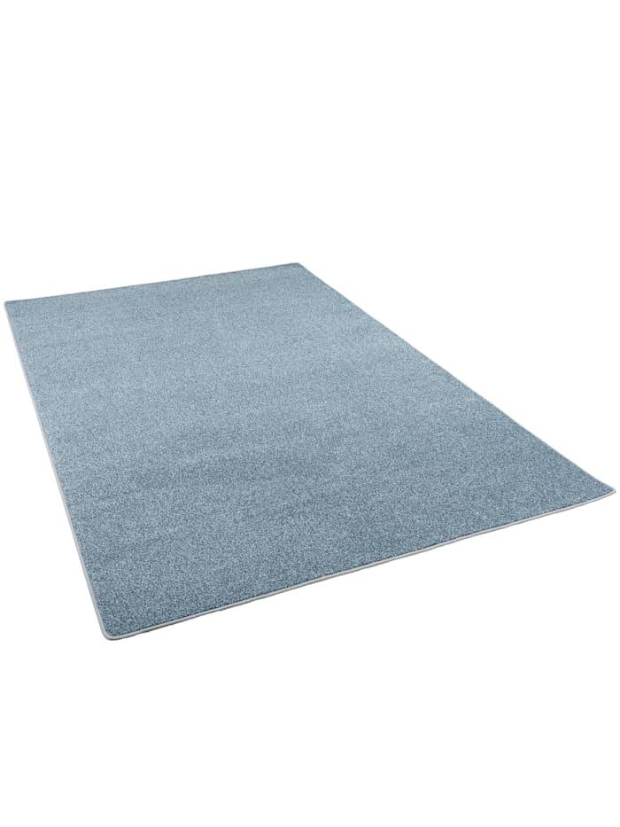 Snapstyle Hochflor Velours Teppich Luna Mix, Blau