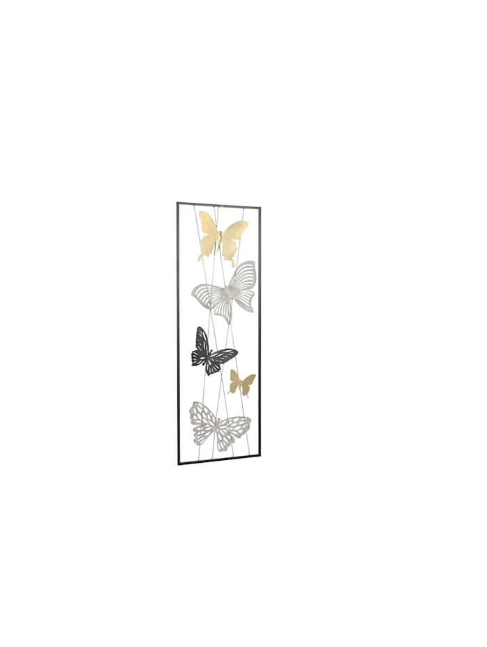 Möbel-Direkt-Online Wanddekoration Schmetterlinge, gold, silber und anthrazitfarben lackiert