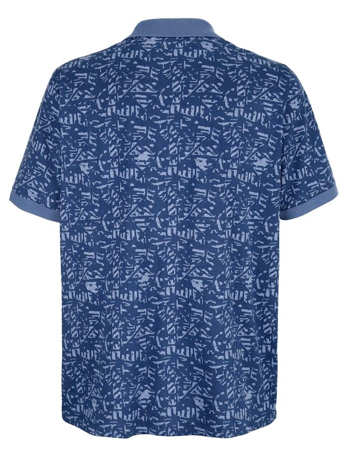 Poloshirt mit Allover-Druckmuster