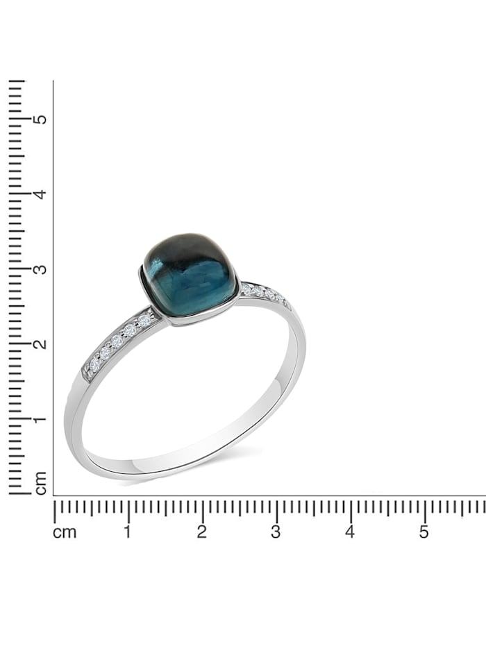 Ring 585/- Gold Brillant weiß Diamant Glänzend 0,054ct.