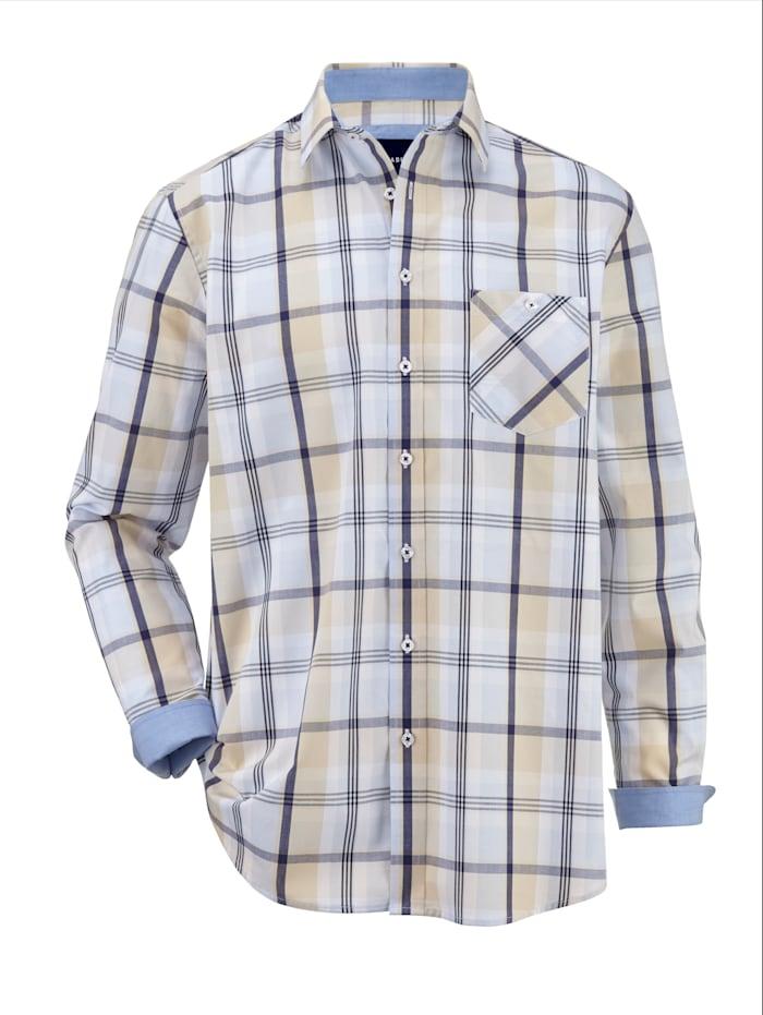 BABISTA Hemd aus reiner Baumwolle, Blau/Beige